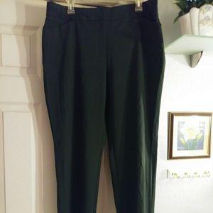 NWT dark green Worthington womens career pants